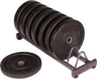 - Body - Solid Rubber Bumper Plate Rack
